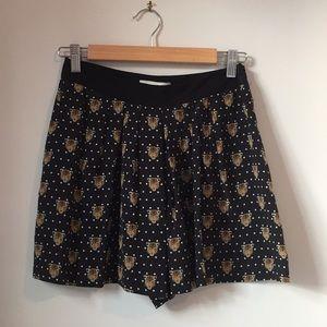 SANDRO Paris Shorts in leopard print